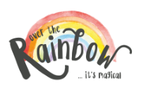 Over the Rainbow Books and Gifts logo